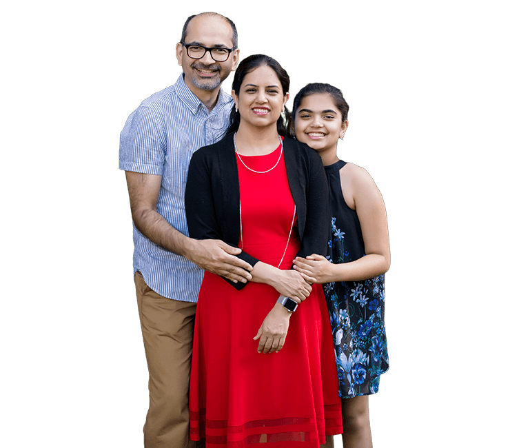 Dr. Taneja and her family