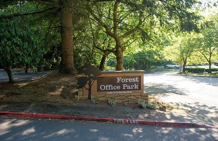 Entry into the Forest Office Park
